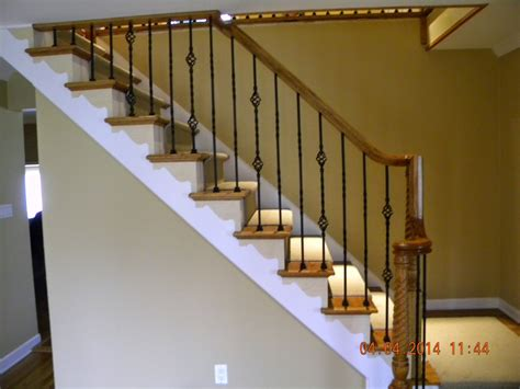 Handrail Balusters Wood Stairs And Rails And Iron Balusters Wood Handrail