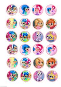 details 24 shimmer amp shine marshmallow fairy cake cupcake toppers wafer card rice paper