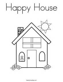 house coloring page free coloring pages of house