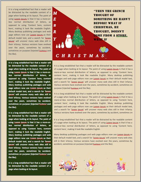 christmas newsletter templates for pages christmas newsletter template free download speedy