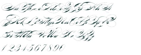 tattoo fonts preview gallery for gt script font