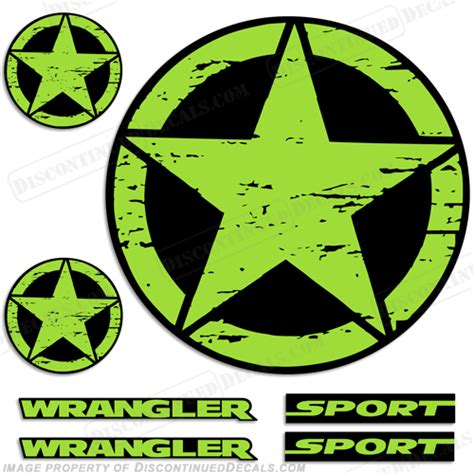 Colored Jeep Emblems Jeep Wrangler Sport Decals Any Color