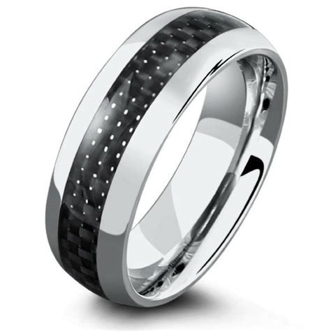 8mm Carbon Fiber rings With Airplane Grade Titanium