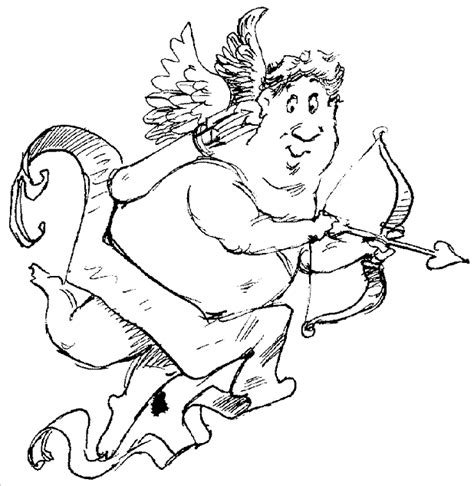 Cupid Valentine S Day Coloring Pages Cupid Coloring Pages