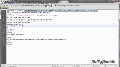 jquery tutorial site du zero jquery tutorial toggling an html element youtube