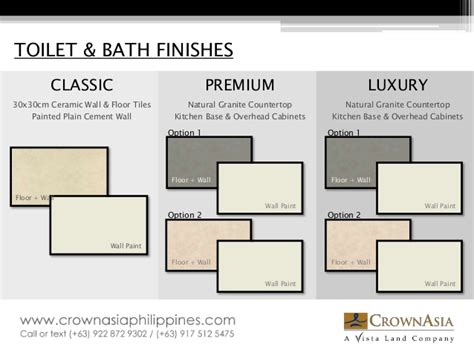 Bath Shower Walls crown asia specifications catalogue materials and