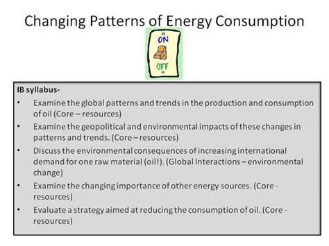 pattern of energy use changing pattern of energy consumption task authorstream