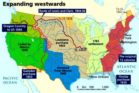 map of the united states during westward expansion us land purchases 1800 map cdoovision com