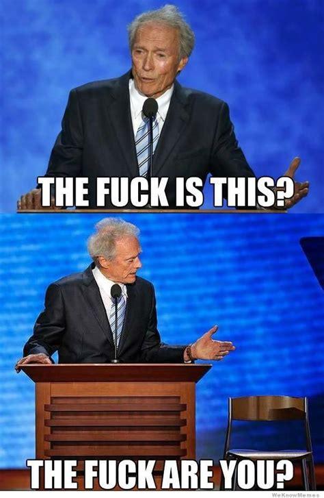 Clint Eastwood Chair Meme - mercedes benz forum taking a trump