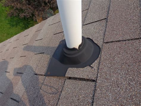 an easy fix for split boots at plumbing vent flashings