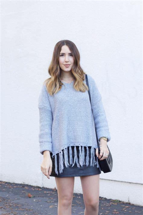 Tassel Sweater 1 grey tassel sweater elements of ellis