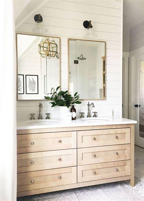 shiplap vanity shiplap behind bathroom mirrors shiplap bathroom vanity