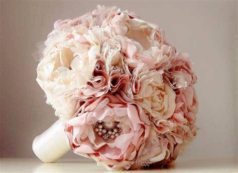 Handmade Bouquets - new fabric flower bouquet brooch bouquet vintage style