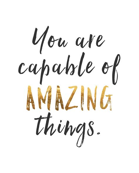 printable wellness quotes you are capable of amazing things inspirational quotes