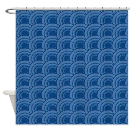 dark blue shower curtain geo scales dark blue shower curtain by admin cp45405617