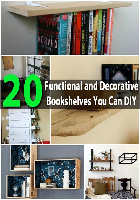 decorative bookshelves 20 functional and decorative bookshelves you can diy diy