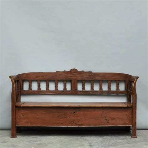 vintage storage bench antique storage bench with original paint circa 1920 for