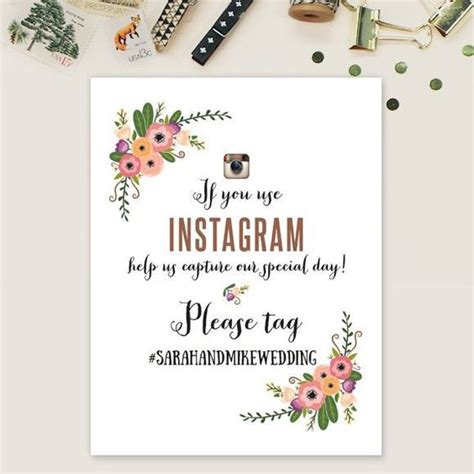 Wedding Hashtag Card Template by How To Choose A Wedding Hashtag This Tale