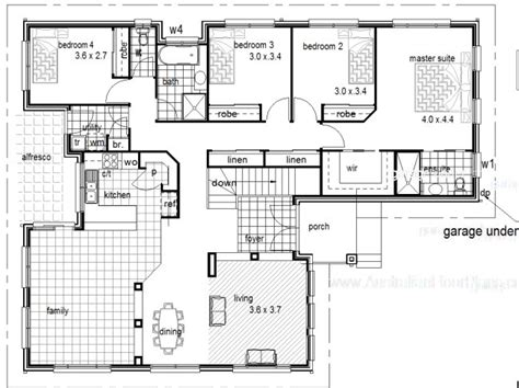 Hillside House Plans With Garage Underneath by 4 Bedroom 2 Living Hillside House Kit Home Design