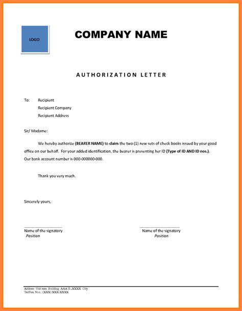 company authorization letter sample company letterhead