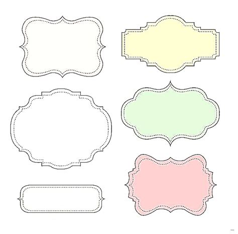 cute label templates choice image templates design ideas