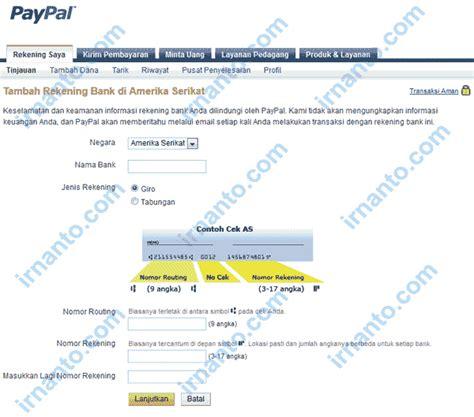cara membuat paypal dengan rekening bank cara menambahkan rekening bank amerika di paypal irnanto com