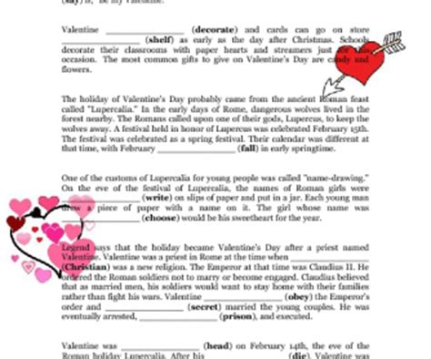 origins of valentines day the history of s day fce word formation style