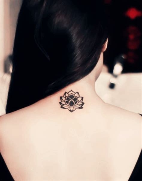 Lotus Flower Neck Neck Lotus Tattoos For Tattoos For