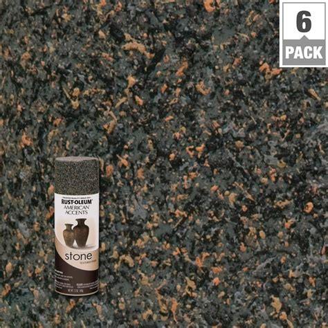Rust Oleum Spray Paint Countertops by Rust Oleum American Accents 12 Oz Granite Textured Finish Spray Paint 6 Pack