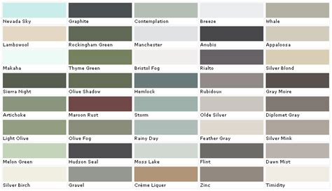 interior house paint color chart pratt and lambert colors house paint color chart chip sle swatch palette