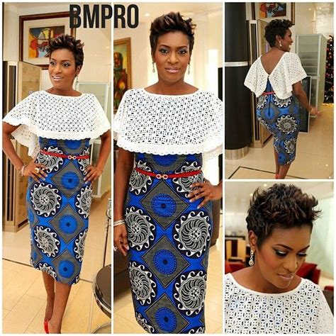 how to care for wrap style cut in bob beautiful ankara mixed with lace dresses