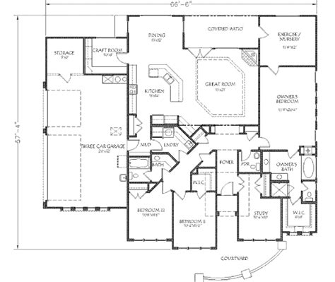 southwestern house plans adobe southwestern style house plan 4 beds 2 5 baths 2476 sq ft plan 24 290