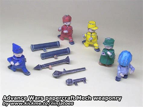Advance Wars Papercraft - advance wars papercraft mech unit weapons by