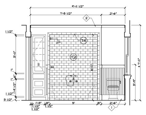 Craftsman House Plan bathroom stall elevation pictures to pin on pinterest