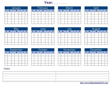 12 month calendar template blank yearly calendar template 2017 printable calendar