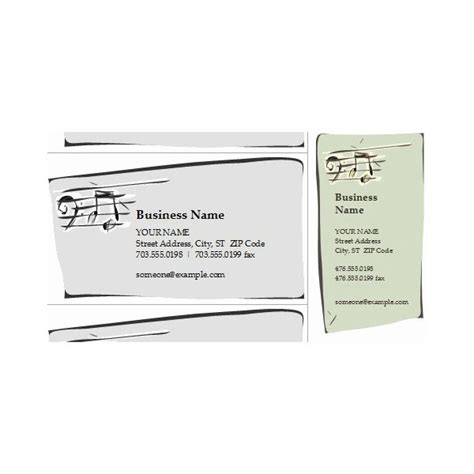 Band Business Card Excel Template by Jazz Band Business Card Templates For All Musicians
