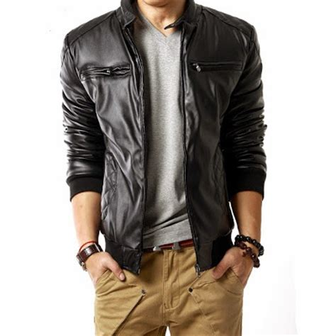Jaket Semi Kulit Pria Gf 23 jual jaket semi kulit sintetis murah jaket kulit