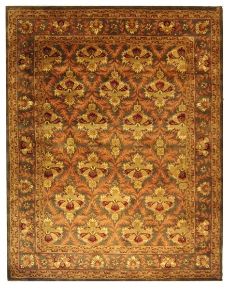 Green And Yellow Rug by Antiquities Green Yellow Area Rug At54b Traditional