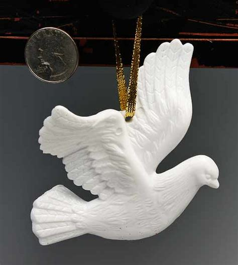 set of 3 dove ornaments christmas and winter sale sales