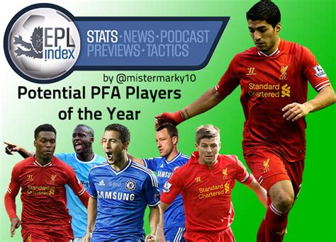 epl player of the year potential pfa player of the year winners suarez toure