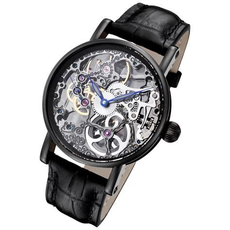 mechanical watch tattoo rougois black mechanical skeleton tattoo watch rs10003