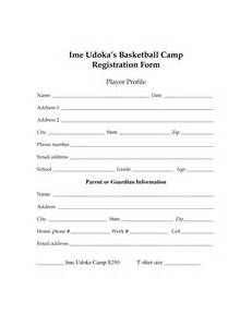 player registration form template best photos of basketball player profile template