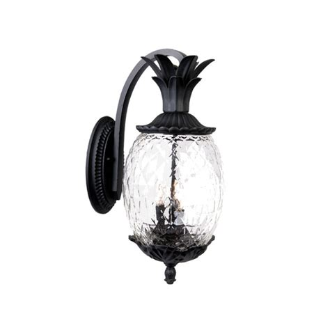 Pineapple Outdoor Lighting Acclaim Lighting 7512bk Matte Black 3 Light 21 75 Quot Height Pineapple Outdoor Wall Sconce From The