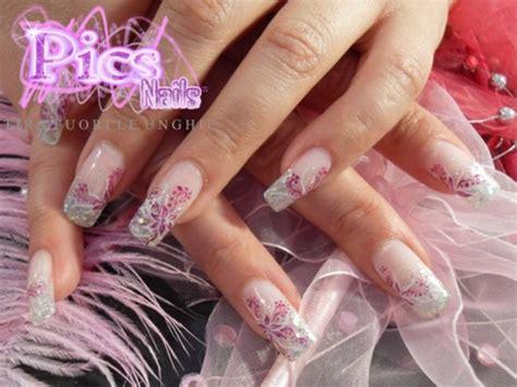 unghie fiori nail con fiori pics nails