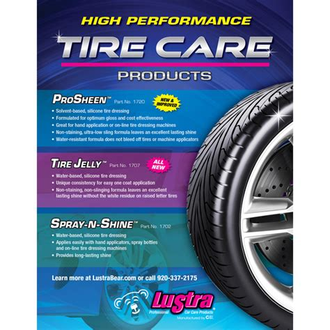 tire care products sell sheet cleaning systems