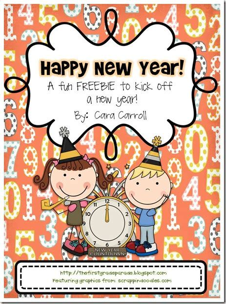new year for grade 1 the grade parade a new year freebie some resolutions
