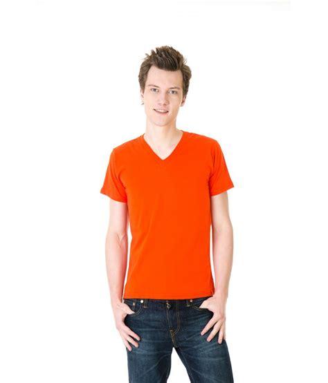 Vioree T Shirt Orange V Neck Size L Posh 7 Orange V Neck T Shirt Buy Posh 7 Orange V Neck T