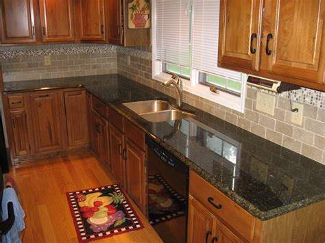 Granite countertops and cherry cabinets medium rectangle gray