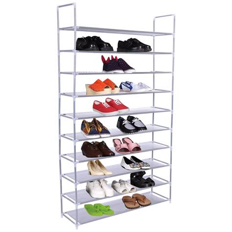 50 pair shoe cabinet 50 pair 10 tire shoe rack shelf home storage organizer