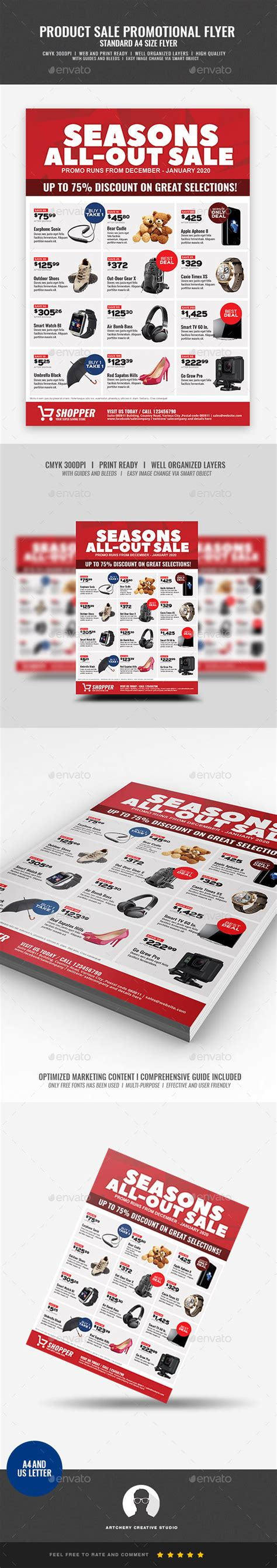 product layout sle product promotional sale flyer by artchery graphicriver